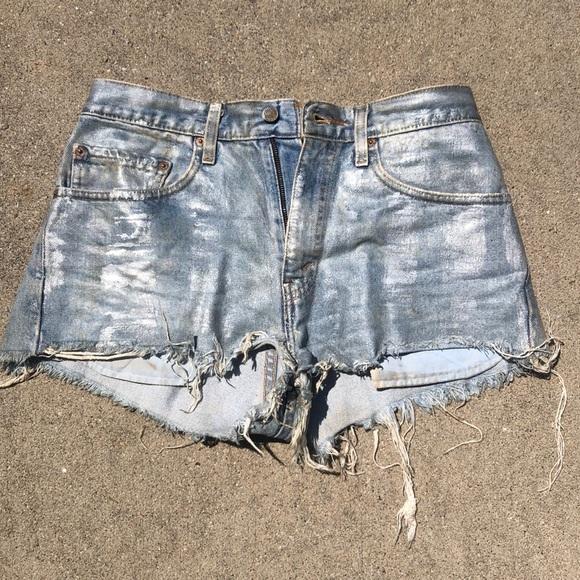 Levi's Pants - Levi's Coated Jean Shorts